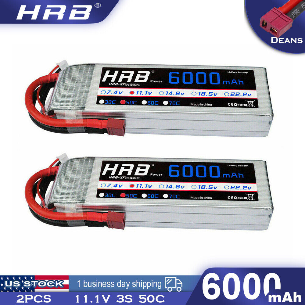 2pcs hrb 11 1v 5000mah 3s lipo battery 50c 100c traxxas. Black Bedroom Furniture Sets. Home Design Ideas