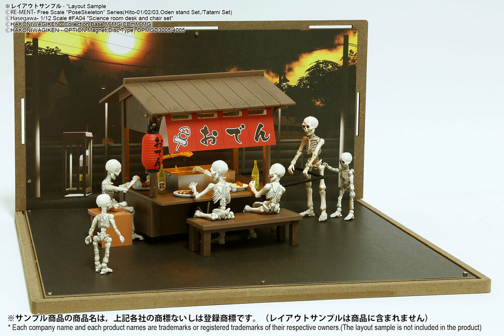 Rement Pose skeleton Oden stall + Diorama sheet mini-M street A (1 sheet)  SET | eBay