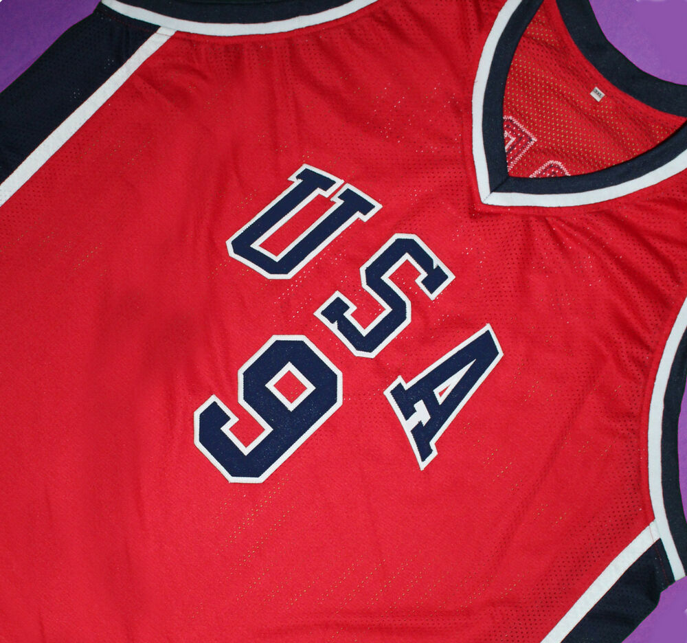 52b3be458ad6f7 Details about MICHAEL JORDAN Jersey TEAM USA JERSEY Red SEWN SEWN NEW ANY  SIZE