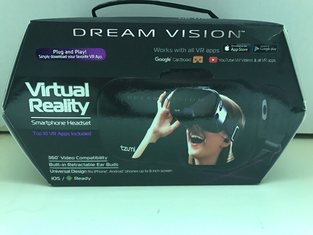 8bc599578a3 Details about Tzumi Dream Vision 4586B Virtual Reality Smartphone Headset  iOS
