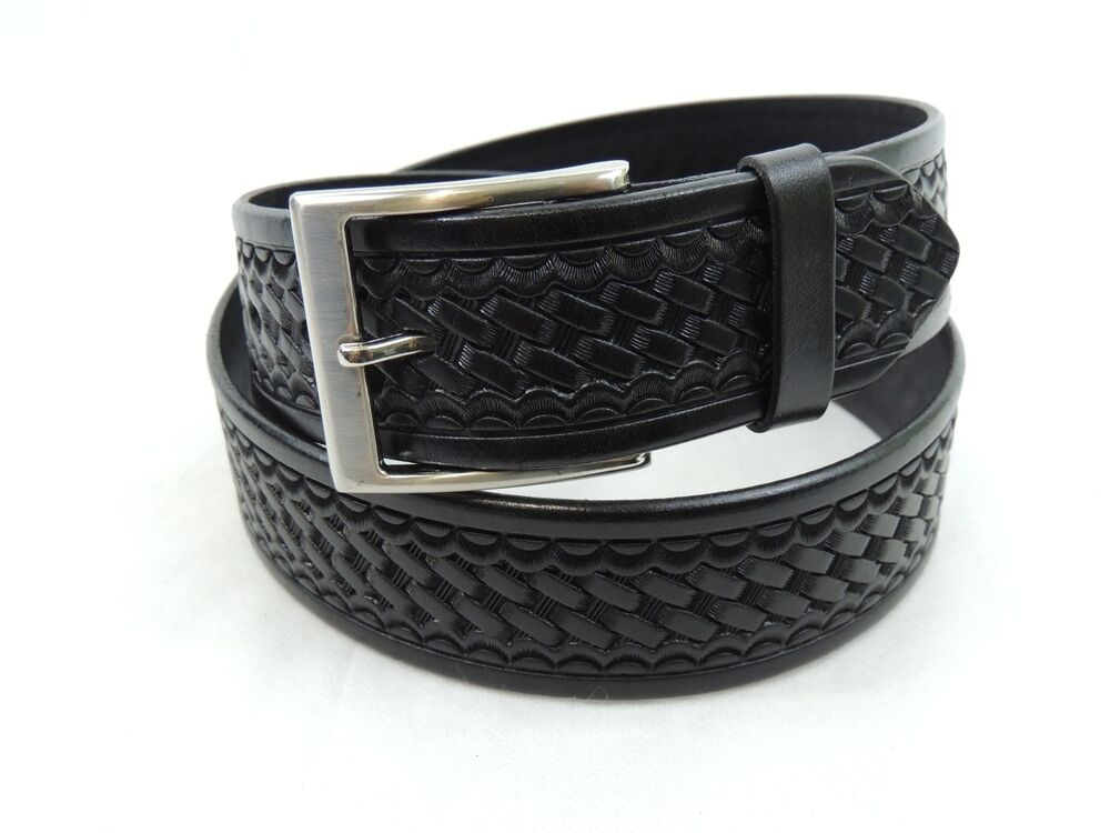 Men S Leather Work Belt Black 1 3 4 Quot Hand Made Heavy Duty