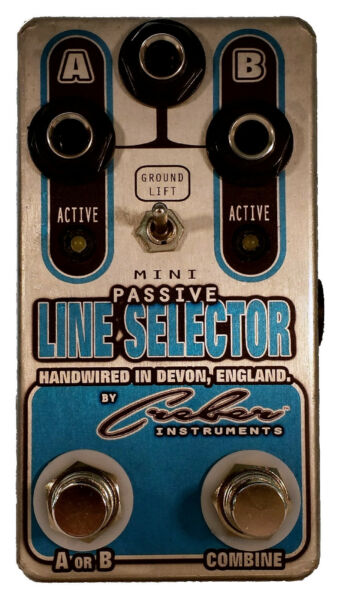 MINI PASSIVE LINE SELECTOR ABY GUITAR AMP SELECTOR SWITCH Pedal - FREE P&P