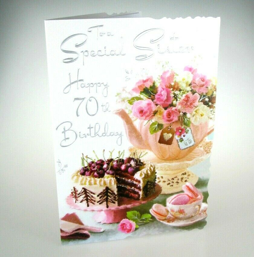 Details About To A Special Sister Happy 70th Birthday LOVELY 70 Card Words