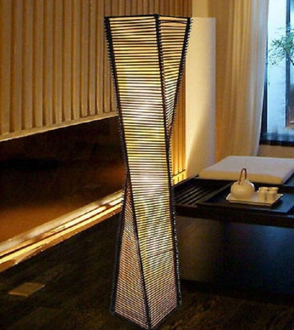 New Modern Contemporary Floor Lamp Black Light Shade Home Style
