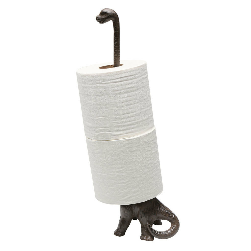 Dinosaur Toilet Paper Towel Holder Stand Long Neck Brontosaurus Kitchen Bath Ebay