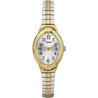 Timex Womens Two-Tone Band & Oval Case Elevated Dress Watch