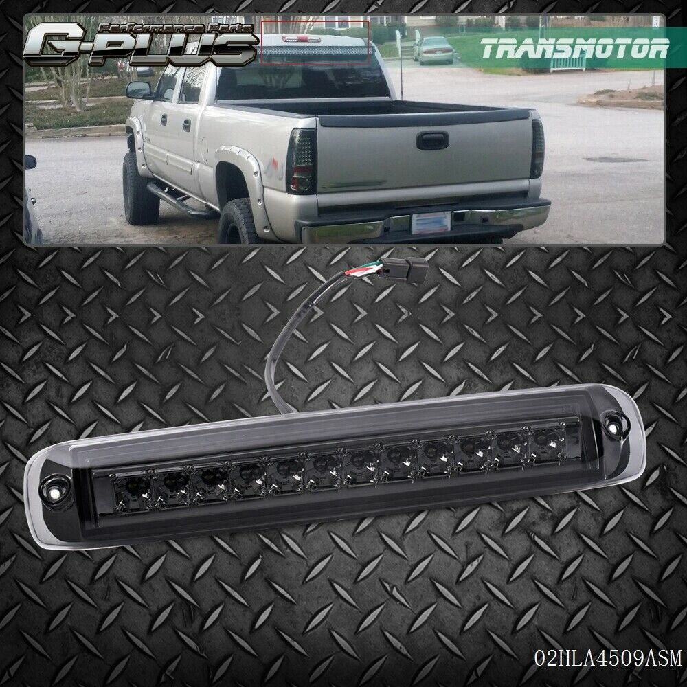 for 99 06 gmc sierra chevy silverado 1500 2500 3500 smoked led 3rd brake light ebay. Black Bedroom Furniture Sets. Home Design Ideas