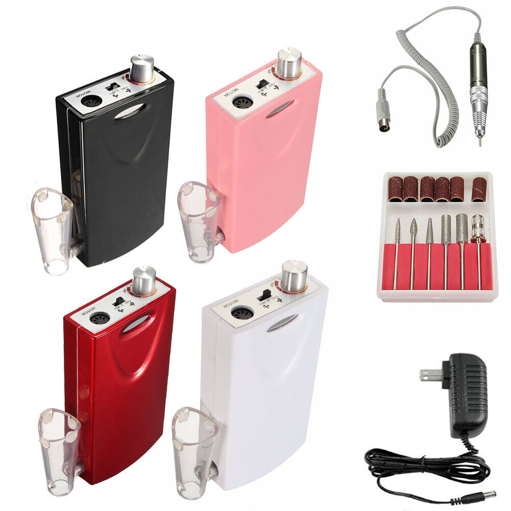 Portable Electric Nail Drill File Rechargeable Cordless