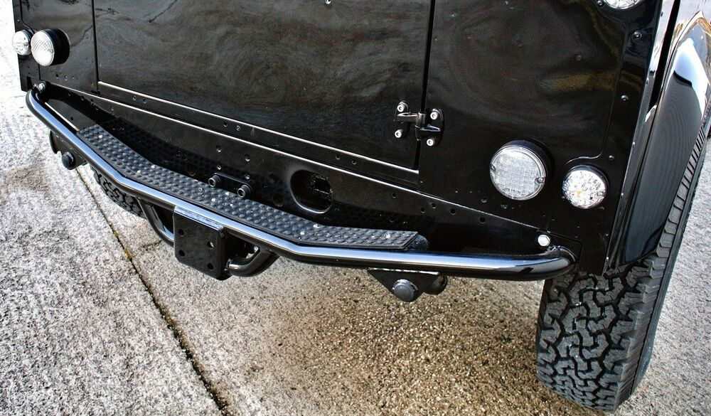Deployed Side Steps For Range Rover Genuine Accessory: NAS REAR STEP / TOW BAR FOR LAND ROVER DEFENDER 90 110 TD5