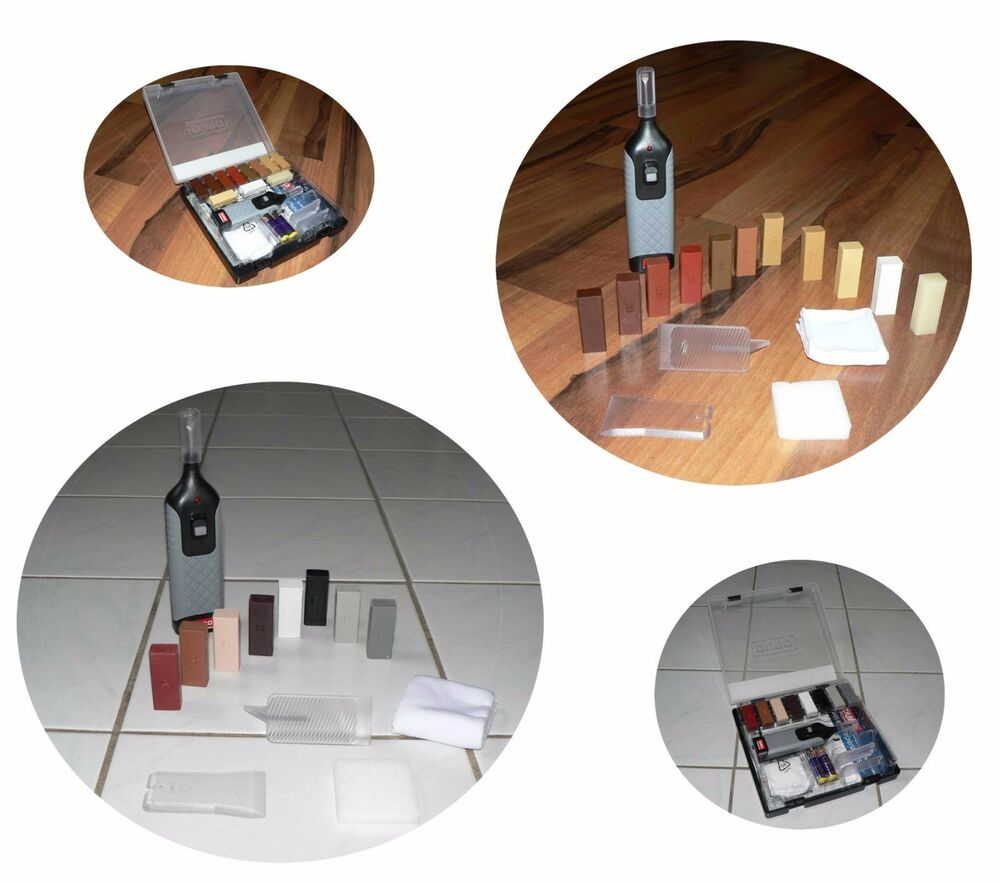 reparatur set kratzer laminat parkett fliesen holz kunststoff fu boden boden ebay. Black Bedroom Furniture Sets. Home Design Ideas