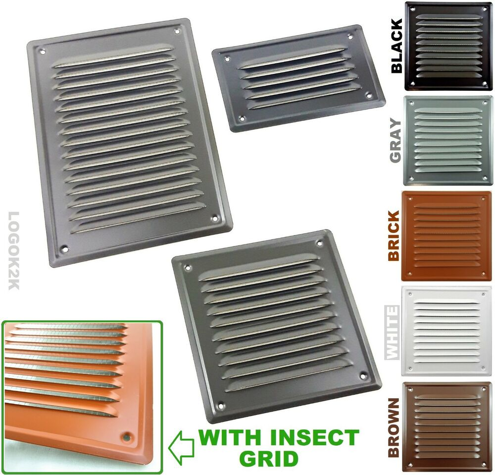 Metal Louvre Air Vent Grille Cover Metal Duct Ventilation