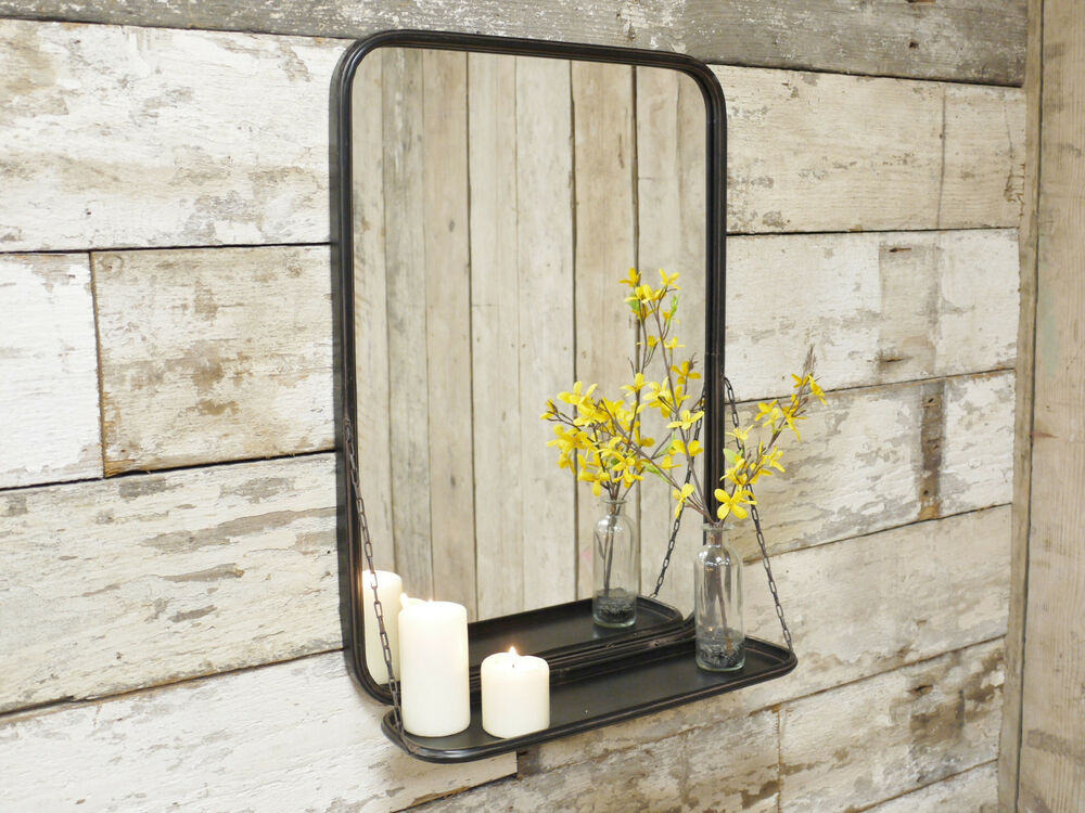 industrial metal mural miroir de salle de bain stockage display shelf large 70 cm ebay. Black Bedroom Furniture Sets. Home Design Ideas