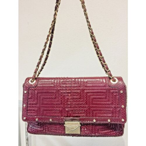 gianni-versace-couture-burgundy-python-design-leather-shoulder-bag