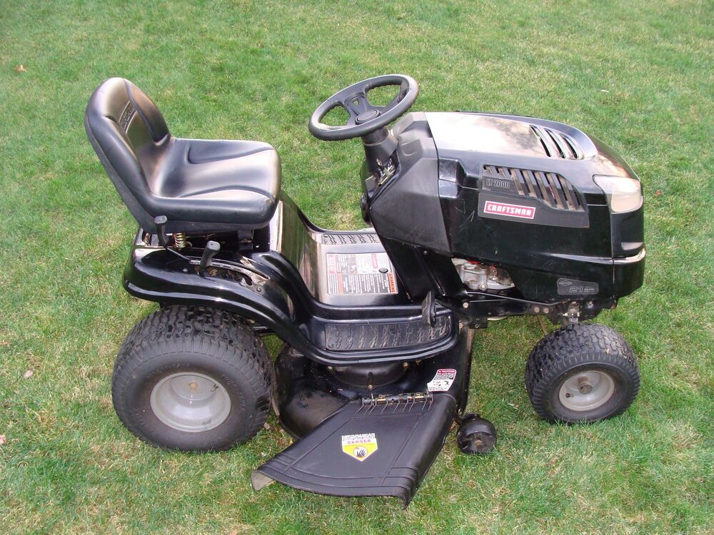 Craftsman 46 Mower Deck : Hp craftsman lawn tractor riding mower quot deck