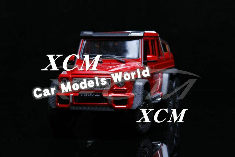 Details About Car Model Welly Fx Models Mercedes Benz G63 Amg 6x6 1 24 Red Small Gift