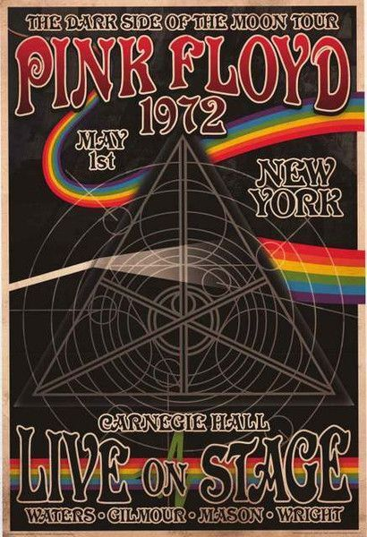 pink floyd 1972 concert metal tin sign poster wall plaque ebay. Black Bedroom Furniture Sets. Home Design Ideas