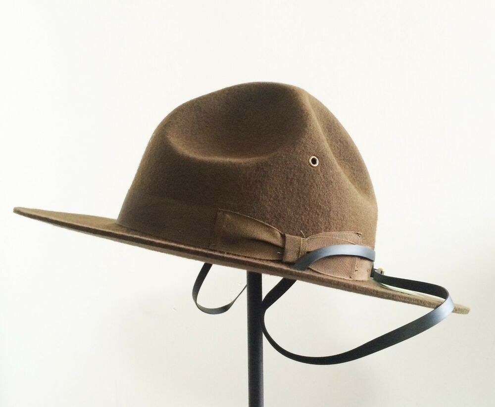 Details about Wool Military Campaign Hat 0d343cbeb5c