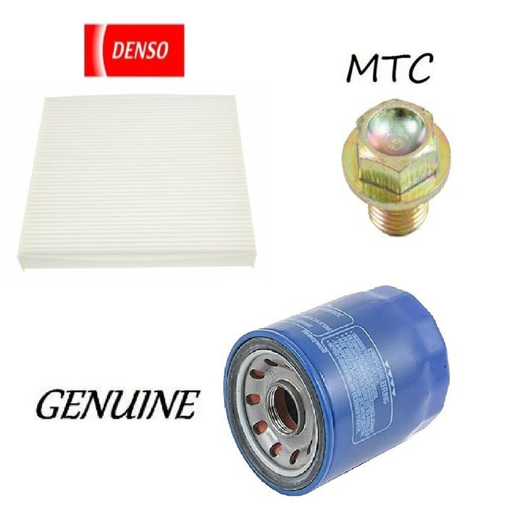 Tune Up Kit Cabin Air Oil Filters Drain Plug For Acura RDX