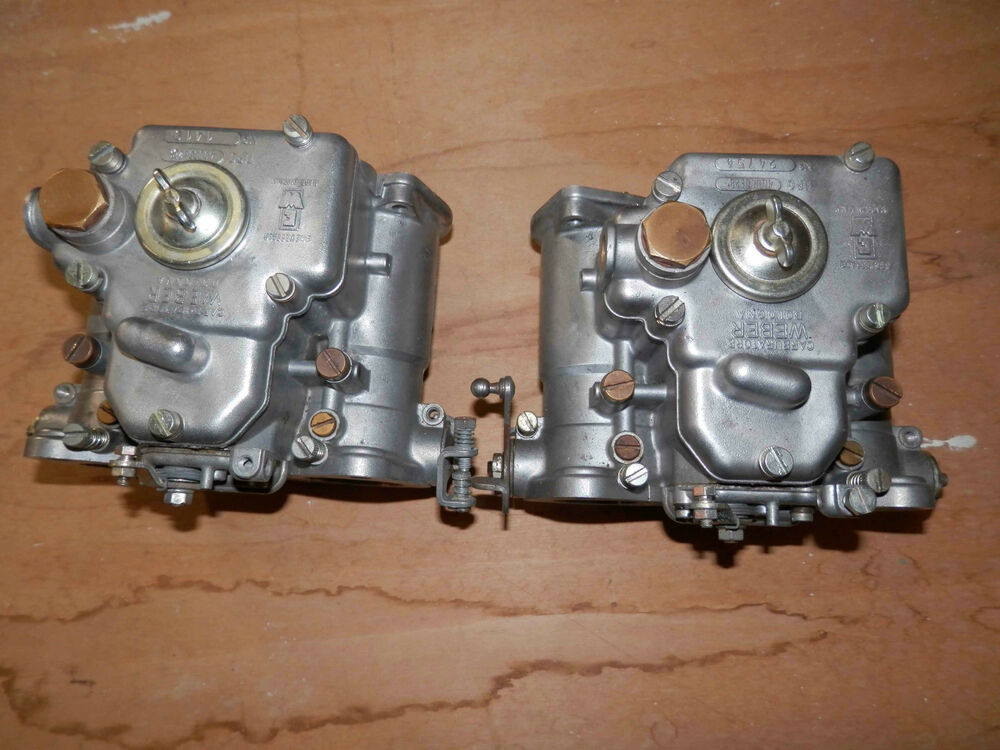 Alfa Romeo Weber 40 Dcoe Side Draft Carburetors Ebay