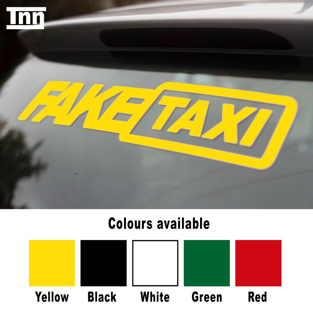 fake taxi sticker small size x2 slammed ride euro jdm. Black Bedroom Furniture Sets. Home Design Ideas