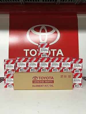 04152-YZZA1, Qty 10, Toyota Oil Filters With Drain Plug Gaskets