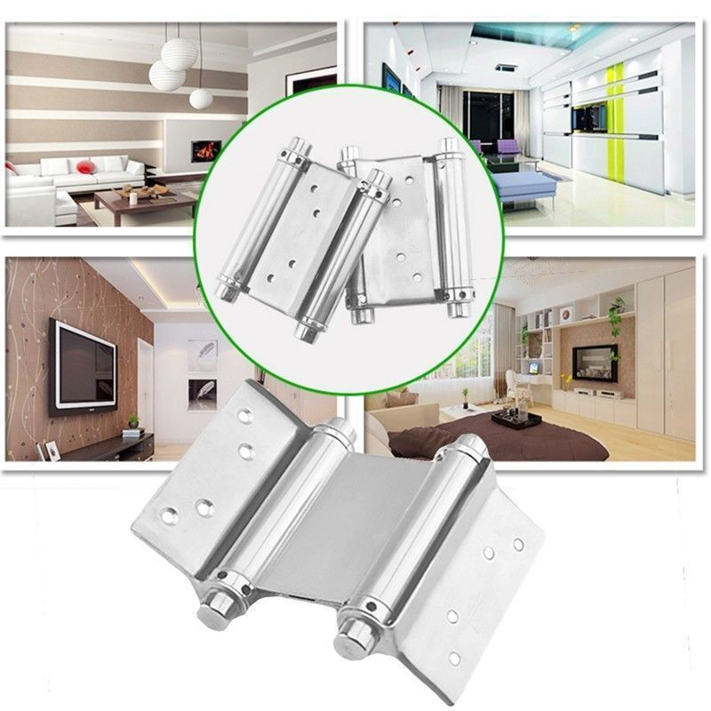2pcs 3 Quot Stainless Steel Double Action Spring Hinge Saloon