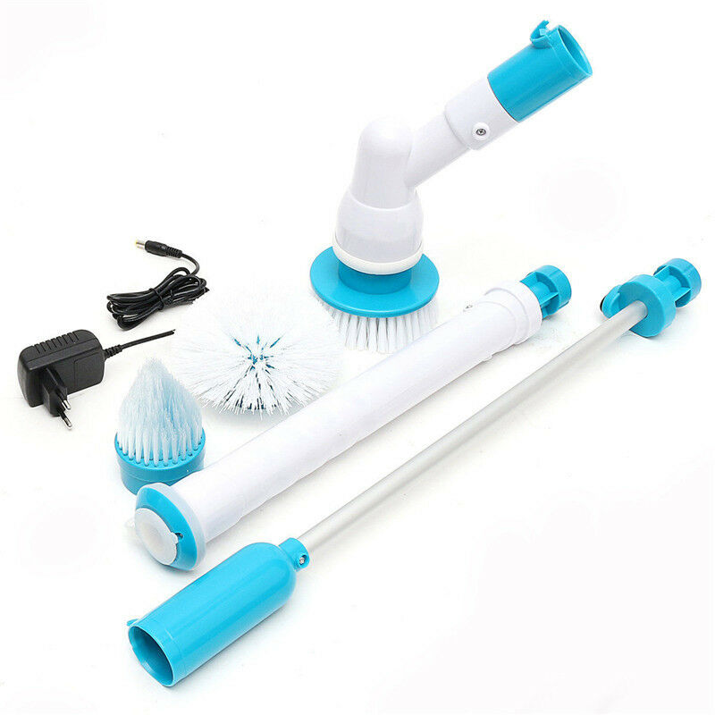hurricane spin scrubber cleaner brush bathtub tiles power floor mop scrubs clean ebay. Black Bedroom Furniture Sets. Home Design Ideas