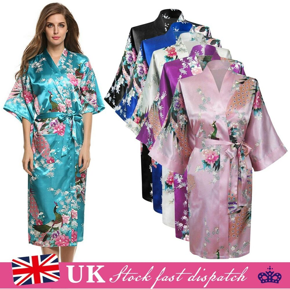 Dressing Gowns And Robes: Silk Satin Kimono Robe Dressing Gown Wedding Bridesmaid