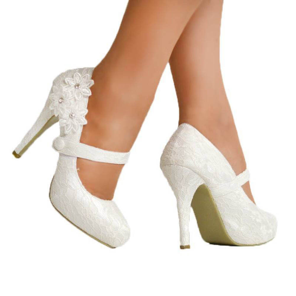 Comfortable Cream Wedding Shoes Ebay