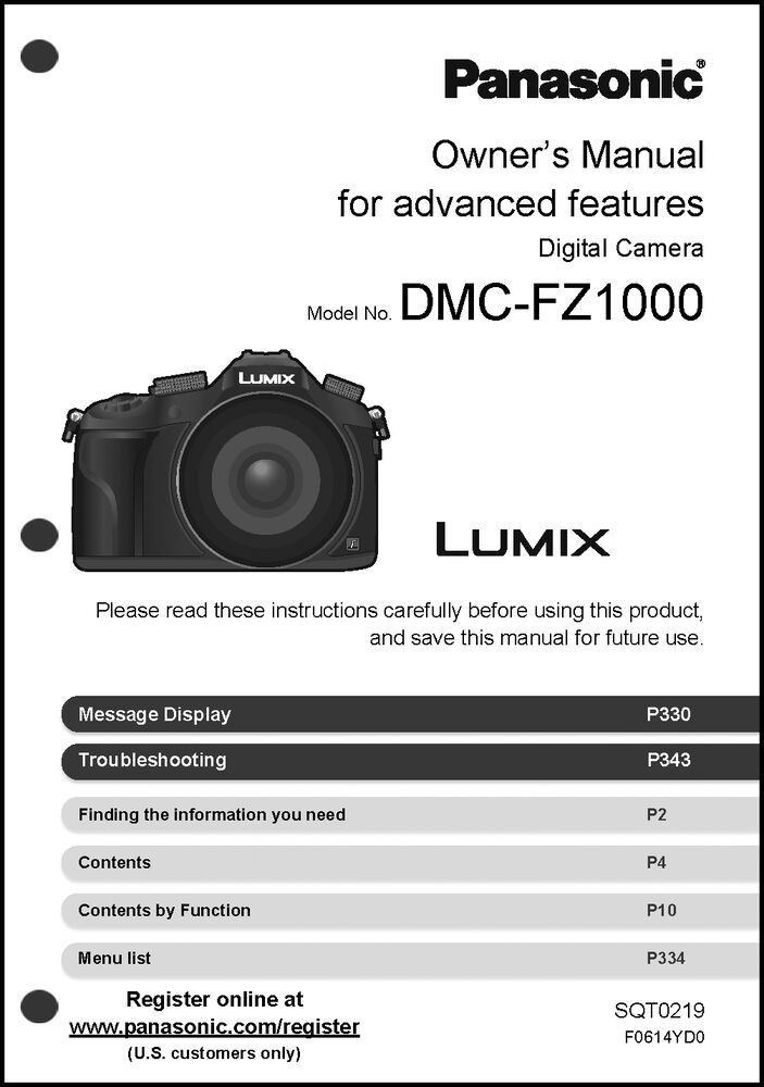 panasonic lumix dmc fz1000 camera user guide instruction