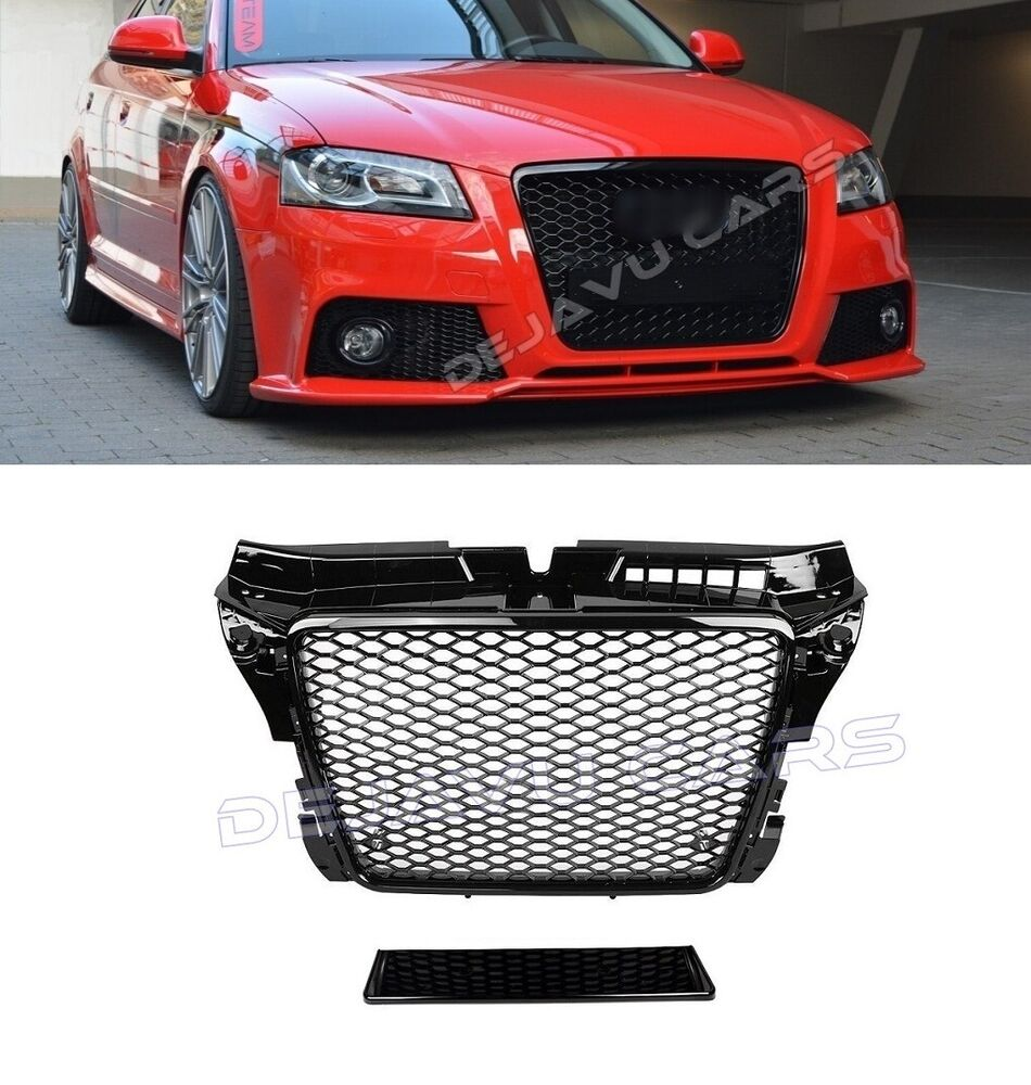 rs3 grill audi a3 8p s3 sline 2008 2012 k hlergrill. Black Bedroom Furniture Sets. Home Design Ideas