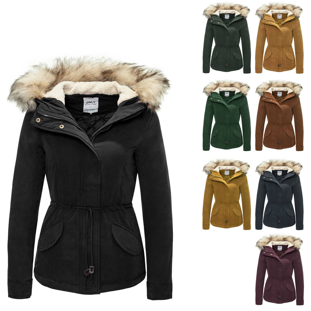 only damen parka kurzmantel winterjacke blouson mantel kapuzenjacke neu ebay. Black Bedroom Furniture Sets. Home Design Ideas