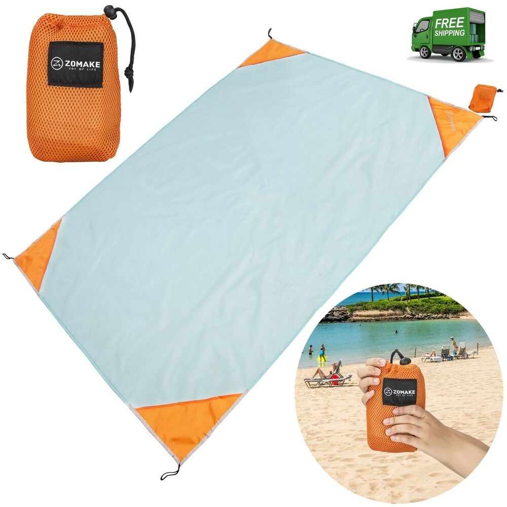 Zomake Lightweight Large Camping Beach Blanket Sand Proof