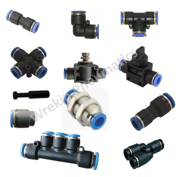 Pneumatic 4mm Push-In Fittings Multipack TC04PACK Straight, Elbows, Tees etc.