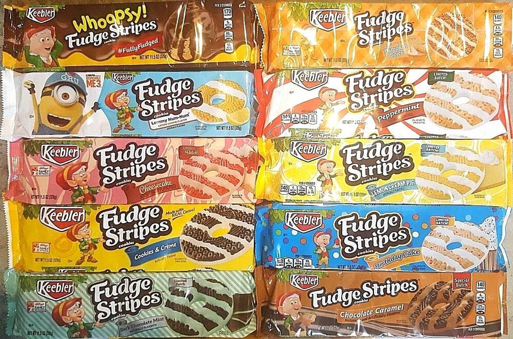 Keebler Fudge Stripes Cookies Variety Limited Edition