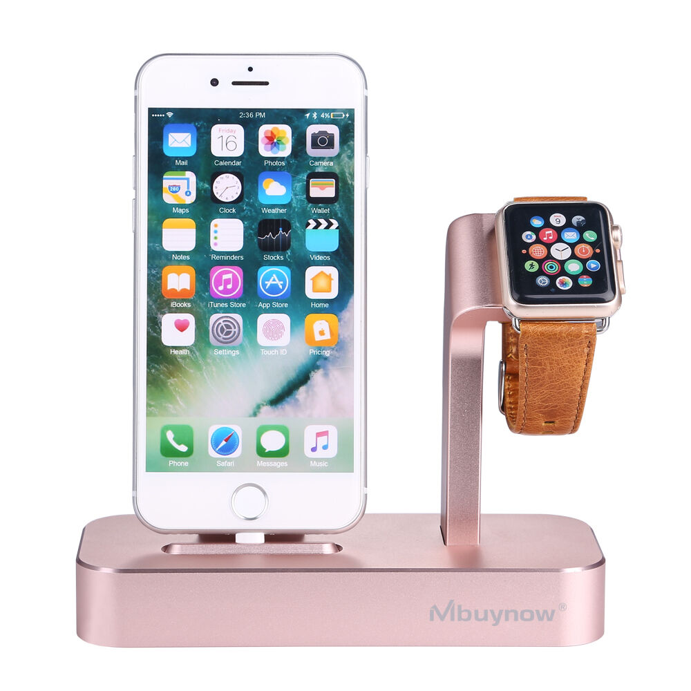 2 in1 aluminium ladestation docking station halter st nder f apple watch iphone 6000000171728. Black Bedroom Furniture Sets. Home Design Ideas