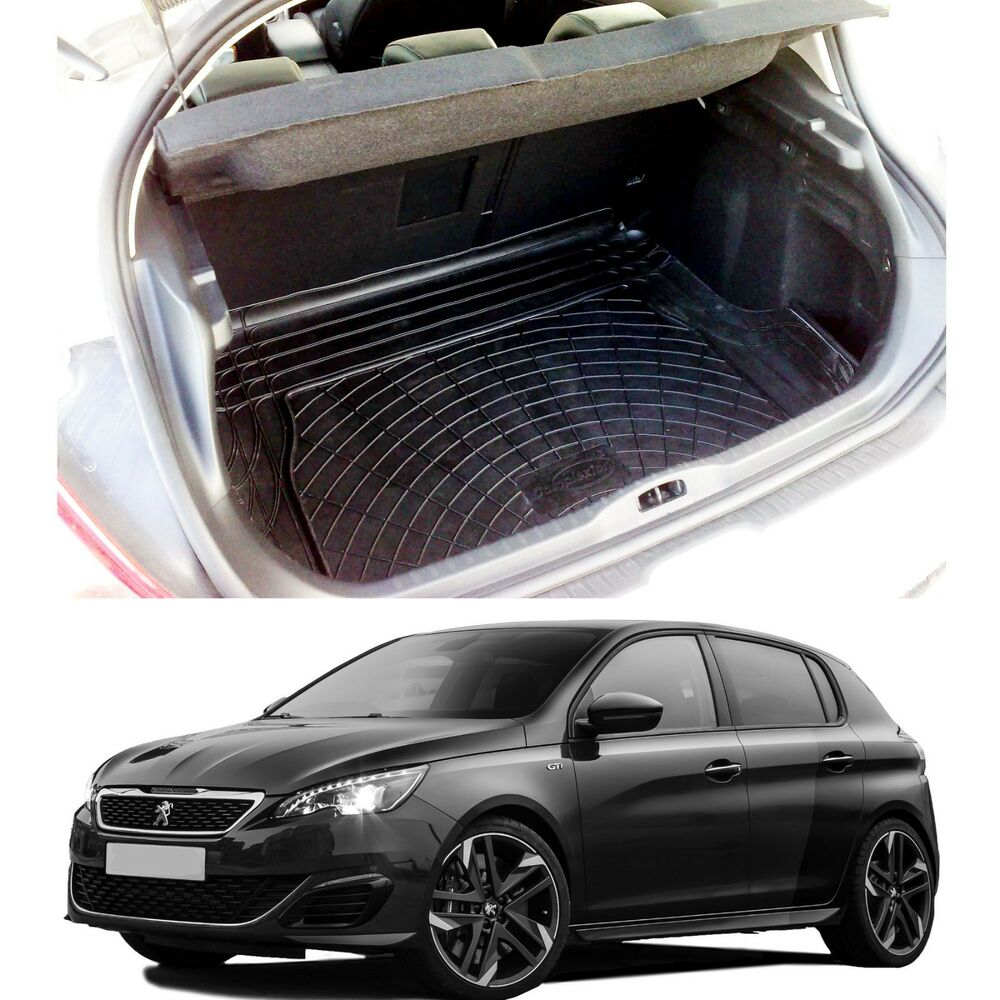 3pc Boot Liner Dog Load Mat Bumper Protector Peugeot 308
