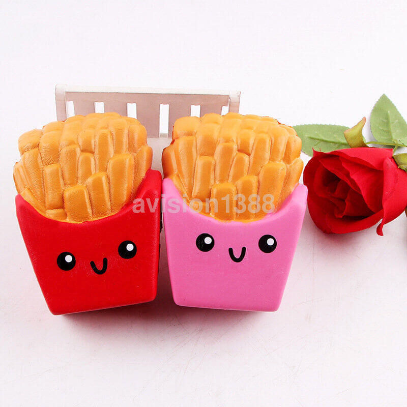12cm cheap squishies kawaii french fries cream scented slow rising toy uk