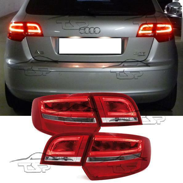 REAR TAIL LED BAR LIGHT RED-WHITE FOR AUDI A3 8P 8PA 04-08
