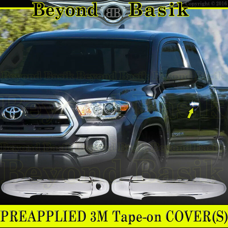 Details About 2016 2019 Toyota Tacoma 2dr Access Cab Chrome Door Handle Covers W O Smart Key