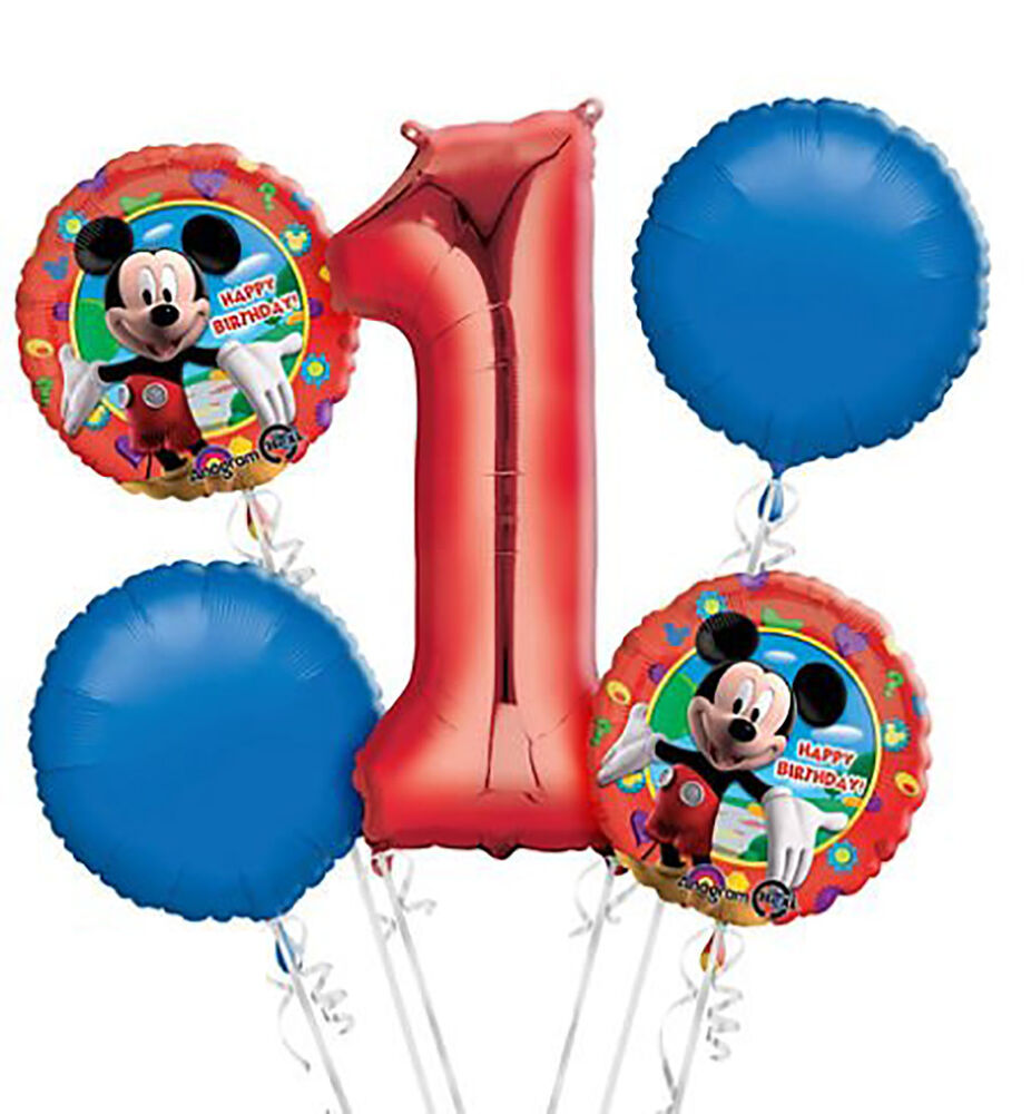 Details About Mickey Mouse 2nd Birthday Balloon Bouquet