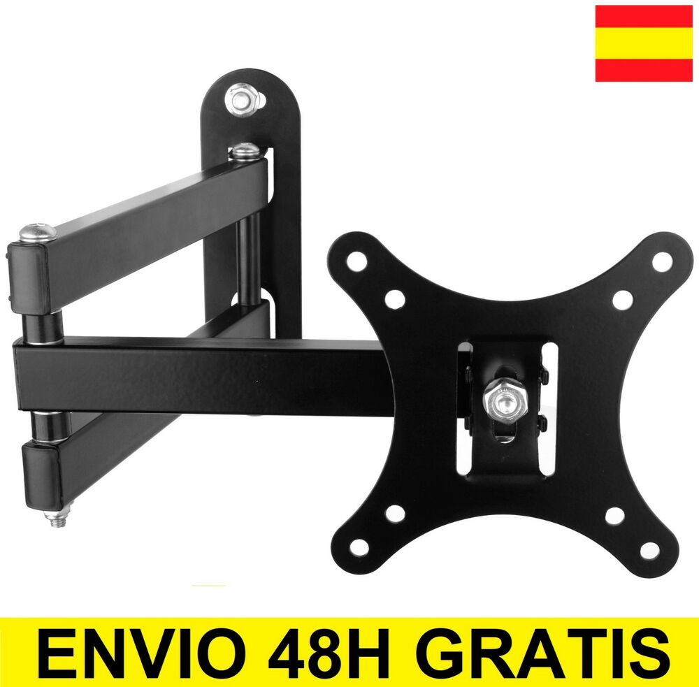 Soporte de pared para tv lcd led plasma monitor giratorio - Soporte pared tv sin tornillos ...