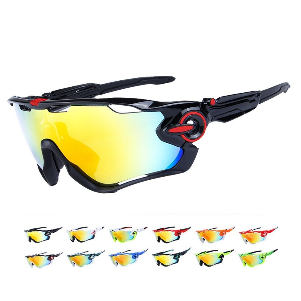 a18c651b95 Details about Polarized Cycling 5 Lens Men s Mountain Bike Goggles Sport  Bicycle SunGlasses