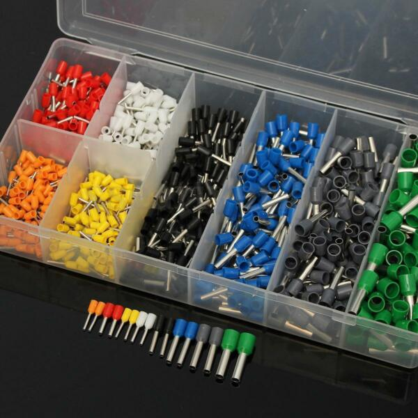 800 Assortment Ferrule Wire Copper Crimp Connector Insulated Cord Pin AWG 22-10