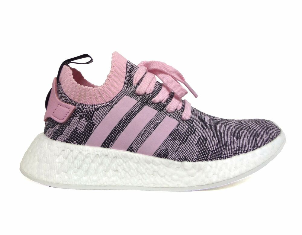 99a1abcff Details about Adidas Women s ORIGINALS NMD R2 PRIMEKNIT Running Shoes Pink Black  BY9521 b