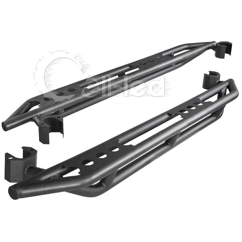 Pair Nerf Bar Side Step Armor Running Board For 07 18 Jeep
