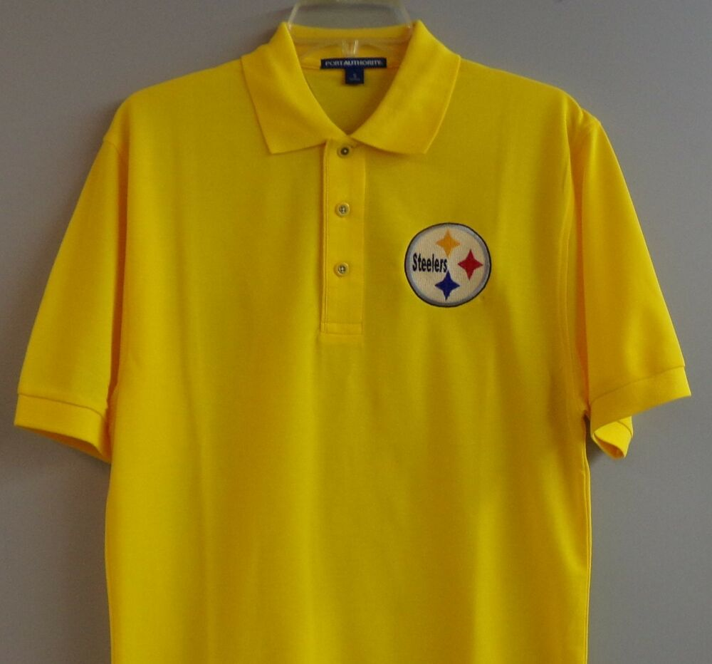 Nfl Pittsburgh Steelers Mens Embroidered Polo Shirt Xs 6xl Lt 4xlt