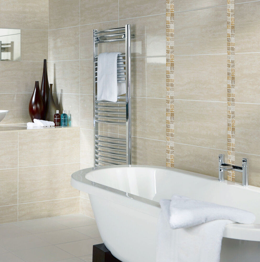Details About 10x10cm Sample Of 60x31 6cm Beige Gloss Ceramic Bathroom Wall Tiles