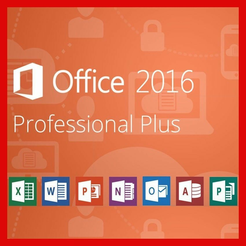 microsoft office professional plus 2016 f r 1 pc ms office pro vollversion ebay. Black Bedroom Furniture Sets. Home Design Ideas