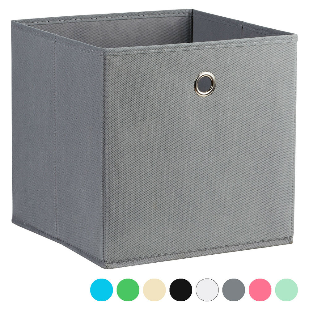 Square Collapsible Canvas Storage Box Foldable Kids Toys: HARTLEYS SQUARE FOLDABLE FABRIC/CANVAS STORAGE BOX CUBE